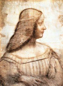 Isabella d'Este, by Leonardo da Vinci