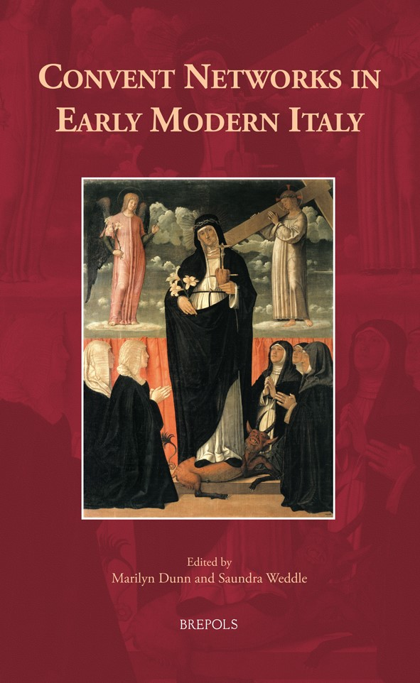 Image of the book cover, which shows a holy woman garbed in black surrounded by praying nuns.